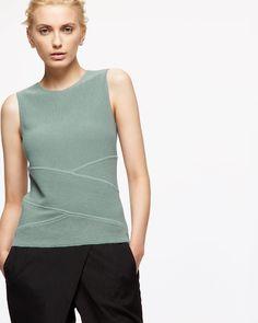 TRANSVERSE RIB TANK - Shirts & Tops - Womens