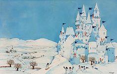 Xmas Art - Snowman Castle by Christian Kaempf