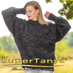 SUPERTANYA crewneck mens mohair sweater unisex by supertanya