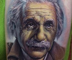 Stefano Alcantara: Albert Einstein color portrait