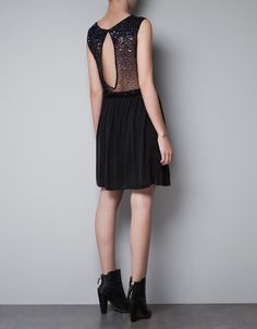 DRESS WITH SEQUINED BACK zara