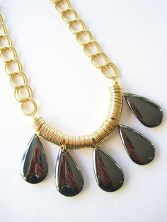 K. Amato hematite teardrop necklace, K. Amato hematite necklace, K. Amato necklace, K. Amato Free Shipping