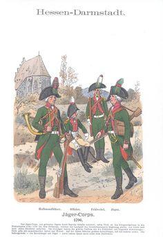 Band IX #3.- Hessen-Darmstadt. Jäger-Corps. 1796.