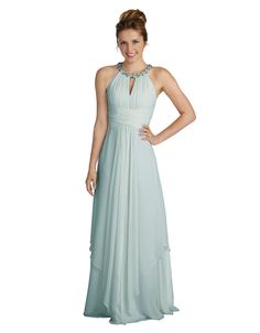 Donna Morgan Bridesmaid Dresses | Siena Halter Keyhole Chiffon Dress