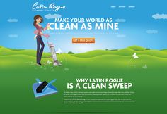 Illustrated and vector websites - Latin Rogue Cleaning Services - #webdesign #layout #inspiration