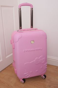 Hello Kitty Suitcase, Hello Kitty Toys, Pink Hello Kitty, Shelled, Barbie  Dream, Suitcases, Precious Moments, Sanrio, Preppy 3ae5f8657f