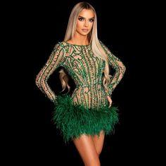 Cheap Cocktail Dresses, Unique Prom Dresses, Short Dresses, Short Green Dress, Nude Dress, Witch Outfit, Feather Dress, Orange Dress, Ladies Party