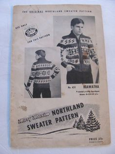 Mary Maxim  451,Hiawatha Style Graph  Sweater Knitting Pattern for Kids, Sizes 8,10 and 12 Years by OnceUponAnHeirloom on Etsy