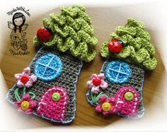 Crochet PATTERN Applique Monster DIY by NellagoldsCrocheting