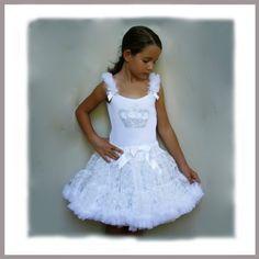 Oopsy Daisy Baby Girl White Crown Bling Pettiskirt Dress. Dress-up, Princess Ballet Tutu Dress. Size 4T. $95.00