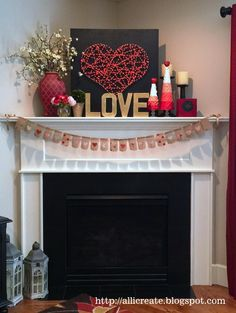 all i create: Valentine's mantel