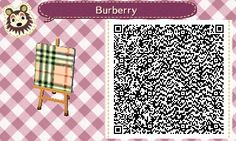 Burberry pattern I made. #burberry #animalcrossing #newleaf #qrcode