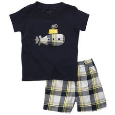2-Piece Tee and Shorts Set...Liz Herrin, you must order this for Robbie!