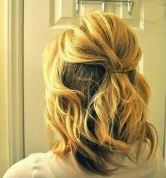 Assuntos e Achados da Scheila: Penteado para cabelos curtos