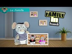 Ratounet, your French tutor, teaches the basic vocabulary of the family in French, after teaching the names, he sings the family song and you can sing with h. French Songs, French Phrases, French Tutors, Family Songs, French Education, Teaching French, Learn French, French Language, Youtube