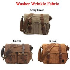 American Style Canvas Leather Casual Shoulder Bag Description: Two Type: Washer Wrinkle Fabric, Hardened Pattern Color: Washer Wrinkle Fabric: Khaki, Army Gree Steam Girl, Canvas Leather, School Bags, Army Green, Leather Wallet, Messenger Bag, Crossbody Bag, Shoulder Bag, American