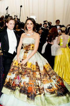 Coco Brandolini in Dolce&Gabbana Alta Moda at Met Gala 2014