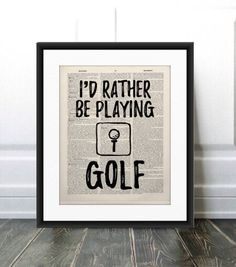Book Page Art, Book Pages, Play Golf, My Etsy Shop, Handmade Gifts, Quotes, Books, Humor, Kid Craft Gifts