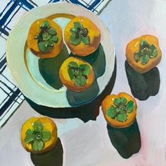 """Erika Lee Sears on Instagram: """"Persimmons. 😋 my neighbor gave me a full bag of them and now to make persimmon bread. #makeart2018"""" Food Illustrations, Illustration Art, Art Grants, The 5th Of November, Fall Pumpkins, Food Art, Art Inspo, Art Projects, Give It To Me"""