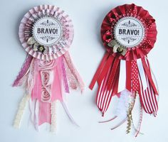 award ribbons for everyone DIY - bit like my rosettes :)