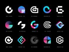 geez geez blockchain bitcoin crypto app letter g mark identity branding logo<br> Playing around with some G marks. G Logo Design, Poster Design, App Icon Design, Brand Identity Design, Branding Design, Flat Design Icons, Logo Design Trends, Symbol Design, Brochure Design