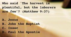 Who said 'The harvest is plentiful, but the laborers are few?'  (A)