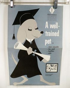 Vintage Pet Health Illustrated Poster 1950s  A by vintagegoodness, $19.95