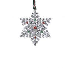 Newbridge Silverware Crystal Snowflake Decoration