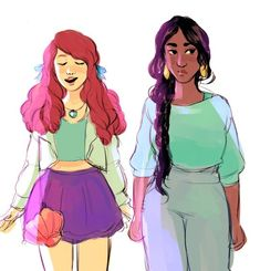 Realistic Disney Princess Art Makes Your Faves Look Like Actual Humans You Want To Hang Out With — PHOTOS | Bustle