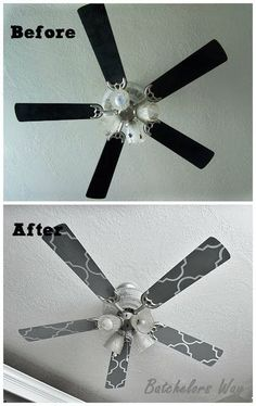 Reason for this pin (besides the darling interiors): Look how they made the ceiling fan loo so stinking cute! #homedecor #homelighting #home #lighting