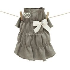 Louis Dog XOXO Dress in Rosy Brown