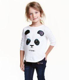 Printed Jersey Top | White/WWF | Kids | H&M US
