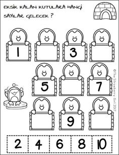 Kindergarten Math Worksheets - Winter- The Kindergarten Math Worksheets packet is filled with fun and adorable math worksheets that will engage your children with a Winter theme. Numbers Preschool, Preschool Learning, Preschool Crafts, Free Preschool, Teaching, Preschool Winter, Math Numbers, Kindergarten Math Worksheets, In Kindergarten