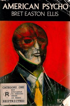 Original American Psycho book cover - Bret Easton Ellis