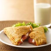Crescent Pizza Pockets. These look like a great treat for kids. The filling ingredients could be changed.