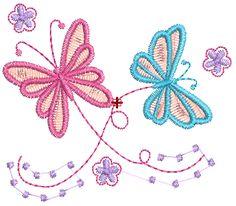 Bordados Descargar Gratis, 200,000 mil Diseños Bordados Descargar Gratis: Bordado de Mariposas