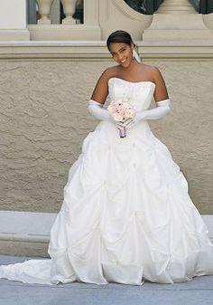 Fantastic Natural Waist Taffeta Strapless Floor Length Plus Size Bridal Dresses Lunadress Co