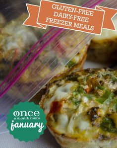 Gluten Free Dairy Free January 2013 Menu #glutenfree #dairyfree #freezer