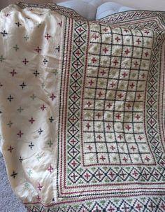 Gujrati/Kutch stitch silk saree #Unbranded