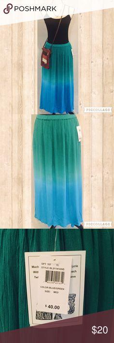 Selling this HOST PICK BOHO Maxi Skirt in Beachy Blue  on Poshmark! My username is: clairetique. #shopmycloset #poshmark #fashion #shopping #style #forsale #Bay Studio #Dresses & Skirts