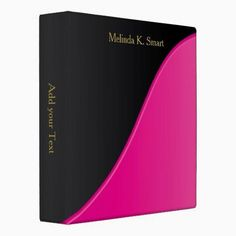 Executive Classic Black with Bright Pink Accent Vinyl Binders http://www.zazzle.com/executive_classic_black_with_bright_pink_accent_binder-127517235909362145?rf=238756979555966366&tc=PtMPrssJDbinder                                       Executive Classic Black with Bright Pink Accent Vinyl Binders      $20.95   by  DesignsbyDonnaSiggy