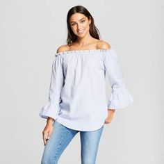 witte blouse off shoulder