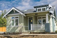 Craftsman Style House Plan - 2 Beds 2 Baths 999 Sq/Ft Plan #895-47 Exterior - Front Elevation - Houseplans.com