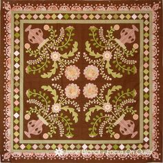 image of choc mint sundae quilt by irene blanck. Love the diagonal block with placement and the borders.