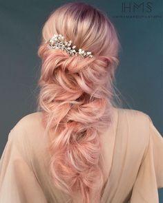ethereal wedding hair