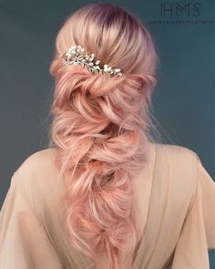 ethereal wedding hair