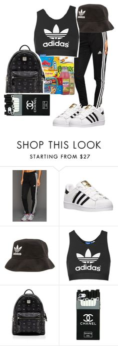 """""""Untitled #273"""" by cieramonet ❤ liked on Polyvore featuring adidas, Topshop and MCM"""