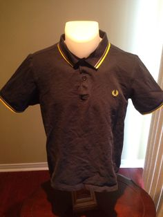 New to MajorDivision on Etsy: Vintage Navy Blue Short Sleeve Fred Perry Polo (25.00 CAD)