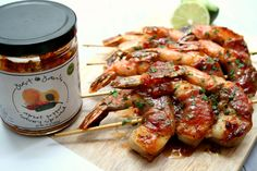 Prosciutto Wrapped Glazed Shrimp with Just Jans Spread // Artisanal LA Fall Show // Oct 10-11