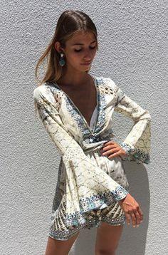 ed5f2cd79d Rent a Dress AU  CAMILLA CAMILLA LOVE WEAVE LOW FRONT TIE WAIST PLAYSUIT